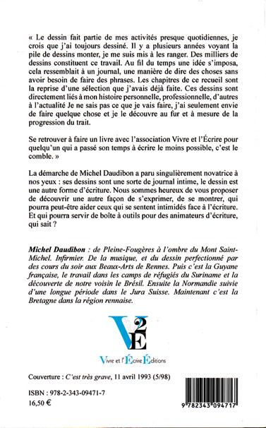 """4e de couverture de """"Journal vraiment très très illustré"""", de Michel Daudibon"""