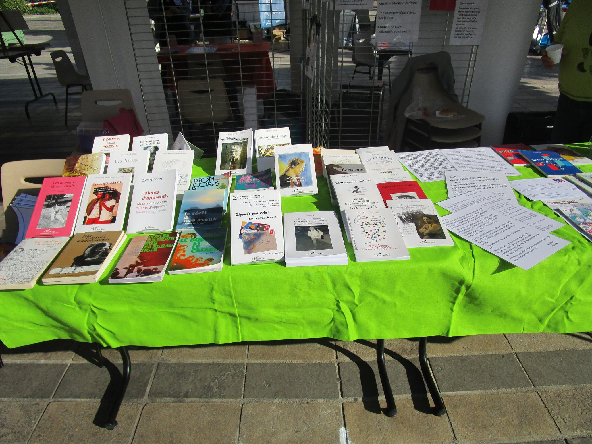 Présentation de livres à Rentrée en Fête